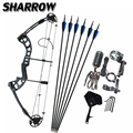 1Set Archery Compound Bow 38Inch 30-55lbs Adjustable Pulley Bow For Outdoor Hunting Shooting Training Archery Accessories