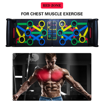 14 in 1 Push-Up Rack Board Training Sport Workout Fitness Gym Equipment Push Up Stand for ABS Abdominal Muscle Building Exercise 3