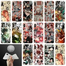 Japan Anime My Hero Academia Soft Phone Case Cover For