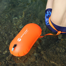 Inflatable Swim Buoy Open Water Sport Lifeguard Anti Drown Safety Kayaking Surfing Drift Swimming Float Air Bag With Waistbelt недорого