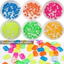 Strass fluorescents pour ongles, 30 pièces, 4x6mm, paillettes 3D, accessoires de décoration, Nail Art