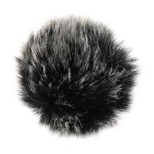 Universal lapela microfone windscreen mini tamanho lavalier mic furry windscreen muff 5mm