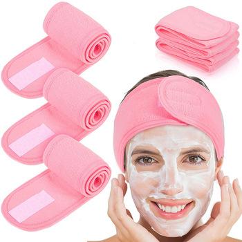 1 sztuk regulowany twarzy pasma włosów makijaż opaska na głowę ręcznik pasma włosów czepek prysznicowy elastyczne SPA twarzy opaska na głowę akcesoria do włosów tanie i dobre opinie CN (pochodzenie) Ekologiczne Na stanie