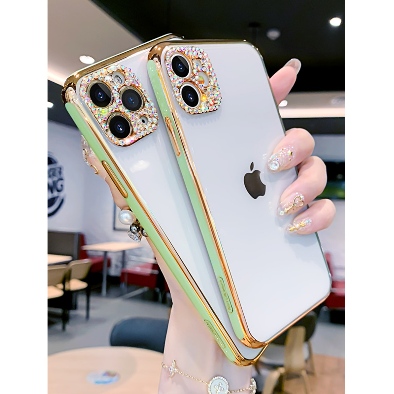 ONEPLANT Electroplated Diamonds Phone Case For IPhone 11 Pro Max XR XS X XS Max All-inclusive Cover For IPhone 7 8 Plus SE2(China)