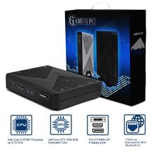 VENOEN juegos de computadora Intel i7 9700F 8700K i5 8500 GTX 1050TI NVME SSD Max 64GB mini pc con HDMI DVI DP escritorio computador
