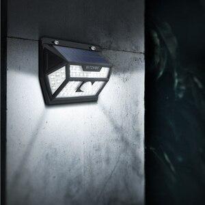 Image 5 - Blitzwolf BW OLT1 الشمسية الطاقة 62 LED الذكية PIR الحركة الاستشعار التحكم IP64 الجدار ضوء مصباح في الهواء الطلق حديقة مسار ساحة Scecurity