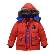 Kids Jackets 2020 Autumn Winter Jackets For Boys Coat Children Warm Outerwear Coat For Boys Jacket Toddler Boys Clothes 2-5 Year cheap KEAIYOUHUO Fashion Polyester Cotton Letter Regular Hooded Outerwear Coats Full Fits true to size take your normal size