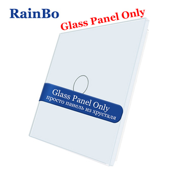 Interruptor no táctil RainBo-cristal de lujo-táctil de cristal-interruptor-Panel 80mm * 80mm estándar de la UE-Panel de vidrio-DIY-accesorios A191W/B1