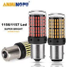 ANMINGPU 1X сигнальная лампа 1156 BA15S P21W светодиодный BAU15S PY21W лампа 3014SMD 1157 BAY15D светодиодный P21 5 Вт сигнала поворота светильник s Запасной светильник...