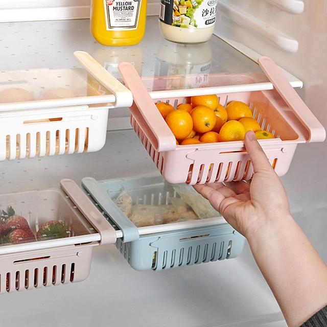Adjustable elastic organizer for the refrigerator  2