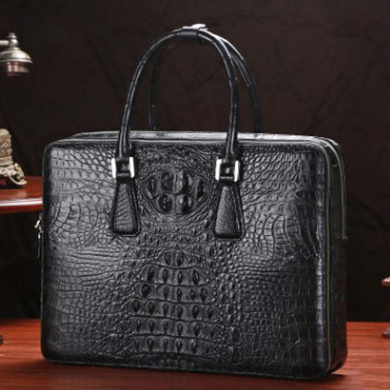 LINSHE Crocodile  Men's Bags  2019  The New  Handbag  Genuine Leather  Luxury Goods  Business  Cross Section  A Briefcase  Men