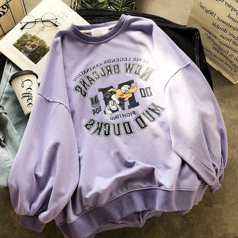 2019 Fashion Hoodies Women Harajuku Hoodie Sudadera Mujer Funny Letter Print Graphic Oversized Sweatshirt Streetwear Sweat Femme
