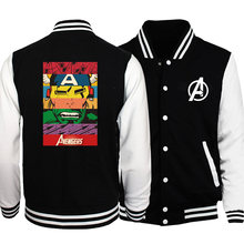 2020 Autumn Super Hero The Avengers Print Hulk Iron Man Jacket New Arrival Slim Fit Hister Fashion Casual Fitness Bomber Jackets(China)