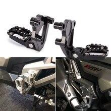 лучшая цена For HONDA X-ADV XADV 300 750 1000 2017-2019 Motorcycle Folding Pedals Black Rear Footrests Passenger Footrests Foot Pegs