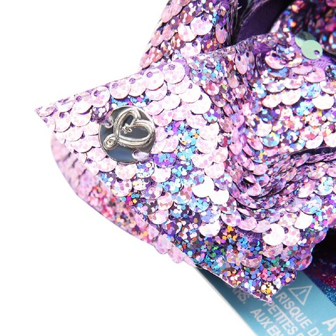 7' jojo siwa Bows for Girls Laser Mermaid Reversible Sequin Bowknot Hairgrips Party Shiny Hair Clips for Girls Hair Accessories Multan