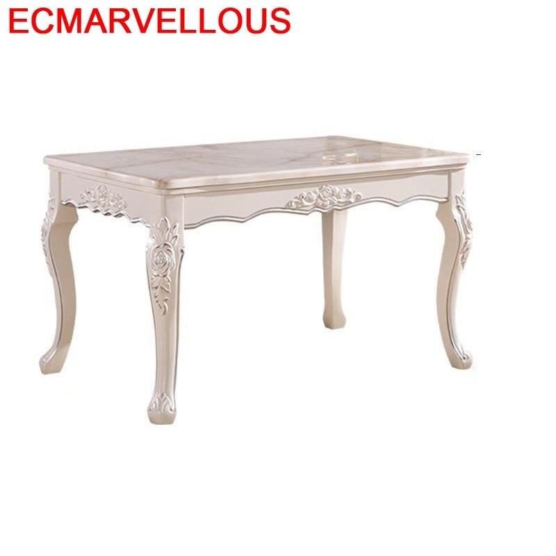 US $2172.74 38% OFF|Marmol Pliante Dinning Set Piknik Masa Sandalye  Escrivaninha Wooden European De Jantar Mesa Comedor Bureau Tablo Dining  Table-in ...