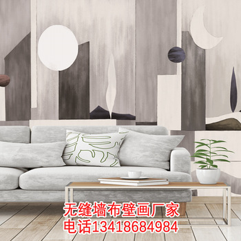 Online Celebrity Decoration Mural Northern European-Style Bed and Breakfast Inn Retro Nostalgic Grey and White Wall Wallpaper