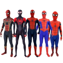Spiderman Costume Spider-Man Homecoming Miles Morales Iron Cosplay Kids Adult Superhero Zentai Bodysuit Halloween
