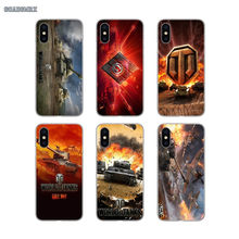 Shell Transparente macio Cobre World Of Tanks Jogo Luxo Telefone Para iPhone 4 11 X XR XS Pro MAX 4S 7 8 5 5S SE 5C 6 6S Plus(China)