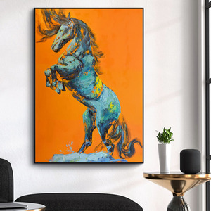 Wall Pictures Animal Poster Cuadros Print Horse Abstract Oil Painting Canvas Paintings Wall Art Living Room Home Decor No Frame