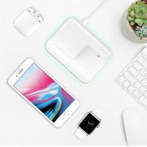 Image 5 - Bezprzewodowa ładowarka do iPhone 11 11 PRO MAX Samsung S10 szybka bezprzewodowa podkładka ładująca 3 w 1 do Huawei Xiaomi 9 Airpods iWatch 4 3 2