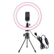 26CM Photography LED Ring Light  Fill light Camera Phone Ring Lamp 10inch With Table Tripods For Makeup Video Live Studio #