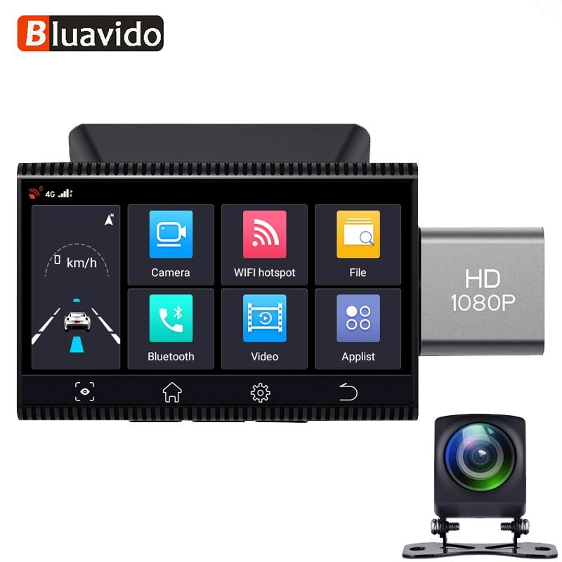 Bluavido 4G Android Автомобильный видеорегистратор GPS навигация HD 1080P Авто видео регистратор видеорегистратор ночное видение WiFi удаленный монитор