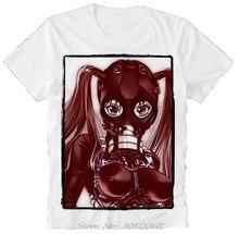 Zomer T shirt Anime Manga Hentai Gas Masker Porno Porno Sexy Meisje Bdsm Sm Japan Vintage Tee Shirt Mannen Katoen t shirt Streetwear