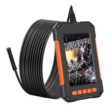 Mini Waterproof Cable Inspection HD1080P Camera 8MM USB Endoscope Borescope 8 Led Lights 4.3 Screen 2/5/10M Options