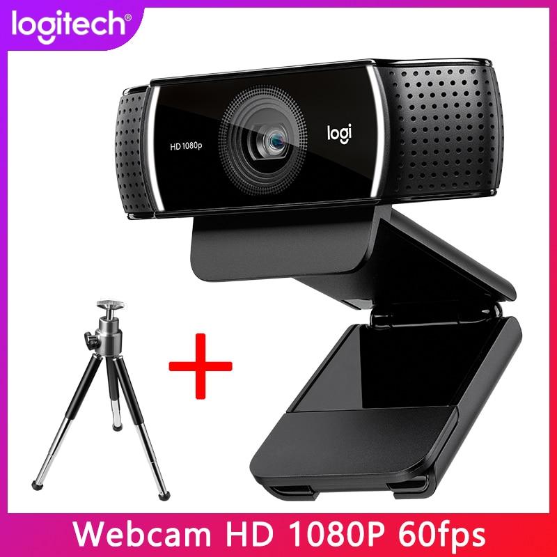 Веб-камера Logitech Pro C922 со встроенным потоковым интерфейсом и автофокусом, HD-камера 1080p для потоковой записи, оригинал