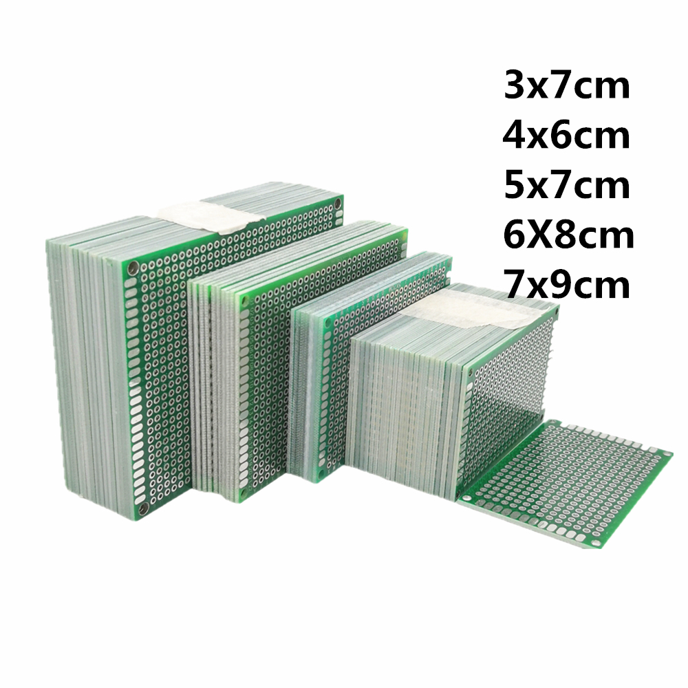5pcs/lot 3X7 4x6 5x7 6x8 7x9 Double Side Prototype PCB Universal Printed Circuit Board Protoboard For Arduino