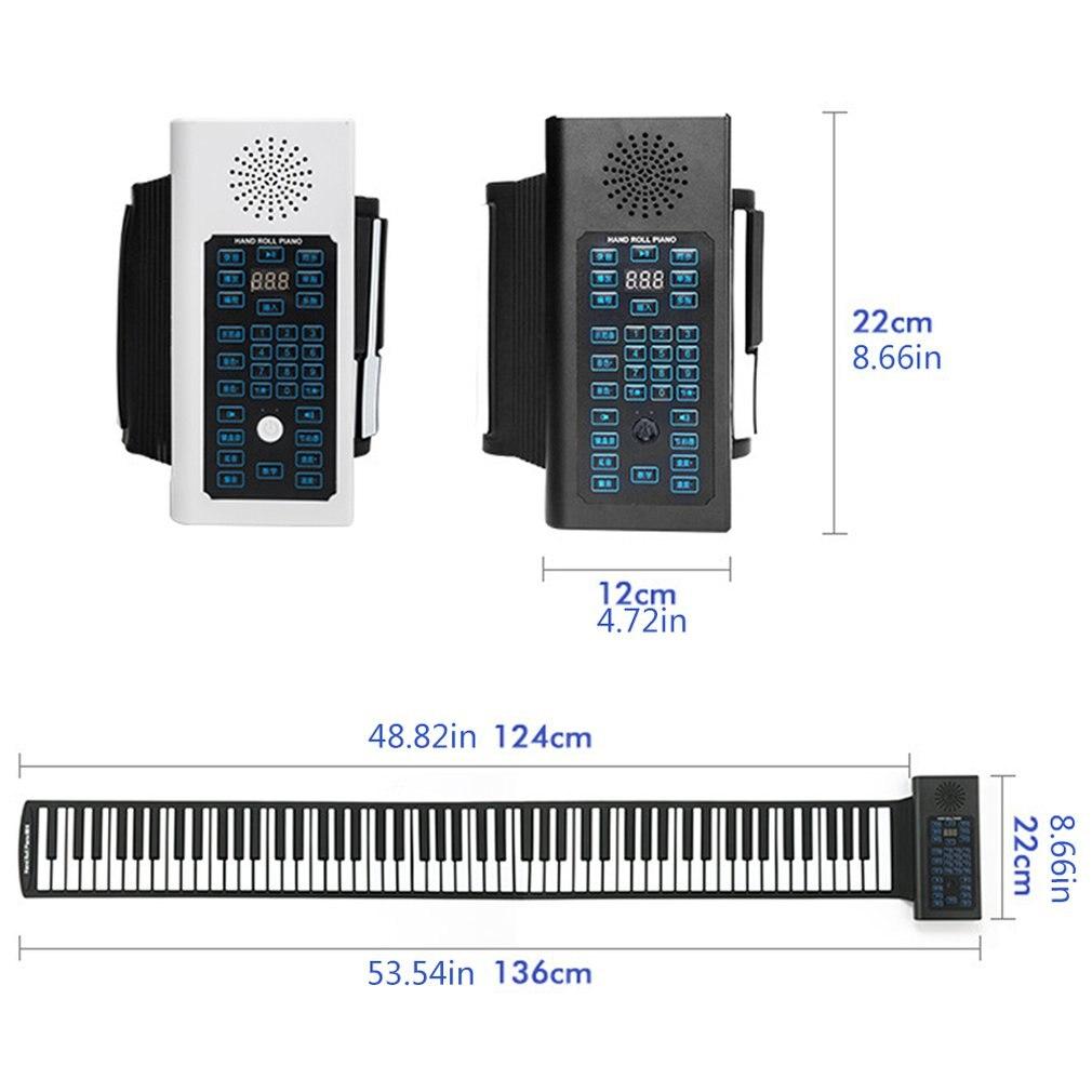 teclado flexível alto-falante embutido com pedal sustentar