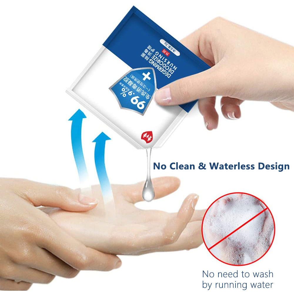 3g*50 Instant Hand Sanitizer Disposable Disinfectant Waterless Liquid Antibacterial 75% Alcohol Disinfectant Gel Family