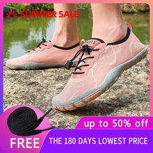Kobiety buty do wody boso buty na plażę dla kobiet buty trekkingowe oddychające piesze wycieczki buty sportowe szybkie suche rzeki woda morska trampki tanie tanio RUMPRA WOMEN Pasuje prawda na wymiar weź swój normalny rozmiar Spring2019 Gumką Profesjonalne Szybkoschnący Elastycznej tkaniny