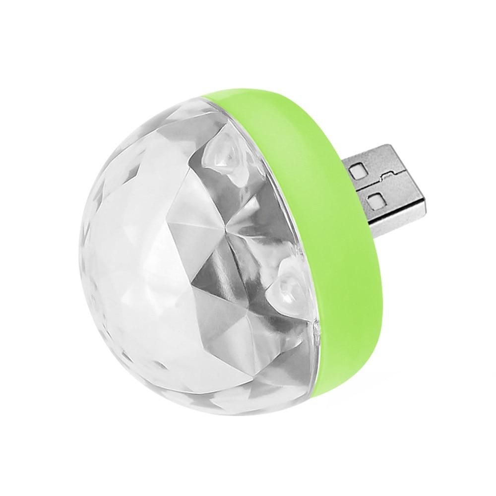 Мини USB СВЕТОДИОДНЫЙ диско этапа светильник Портативный Семья вечерние магический шар красочный светильник бар клуб сценическое освещение лампа для мобильного телефона - Цвет: green