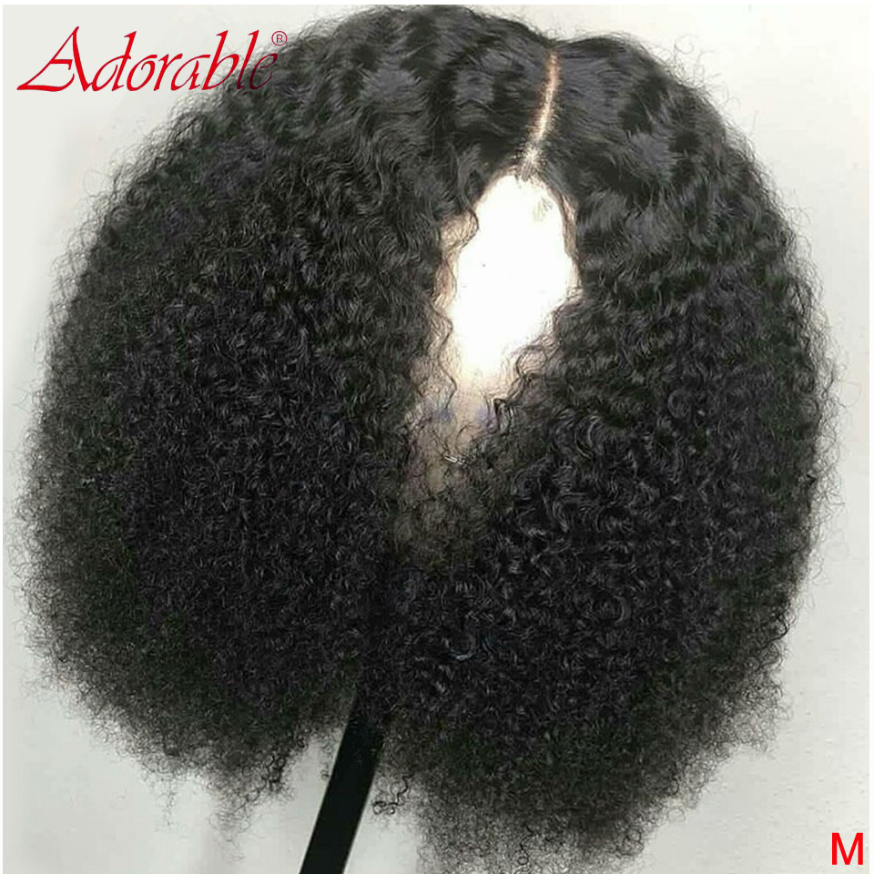 150% Mongolian Afro Kinky Curly Lace Front Human Hair Wigs 13x4 Remy Human Hair Lace Frontal Wig Pre Plucked For Black Women