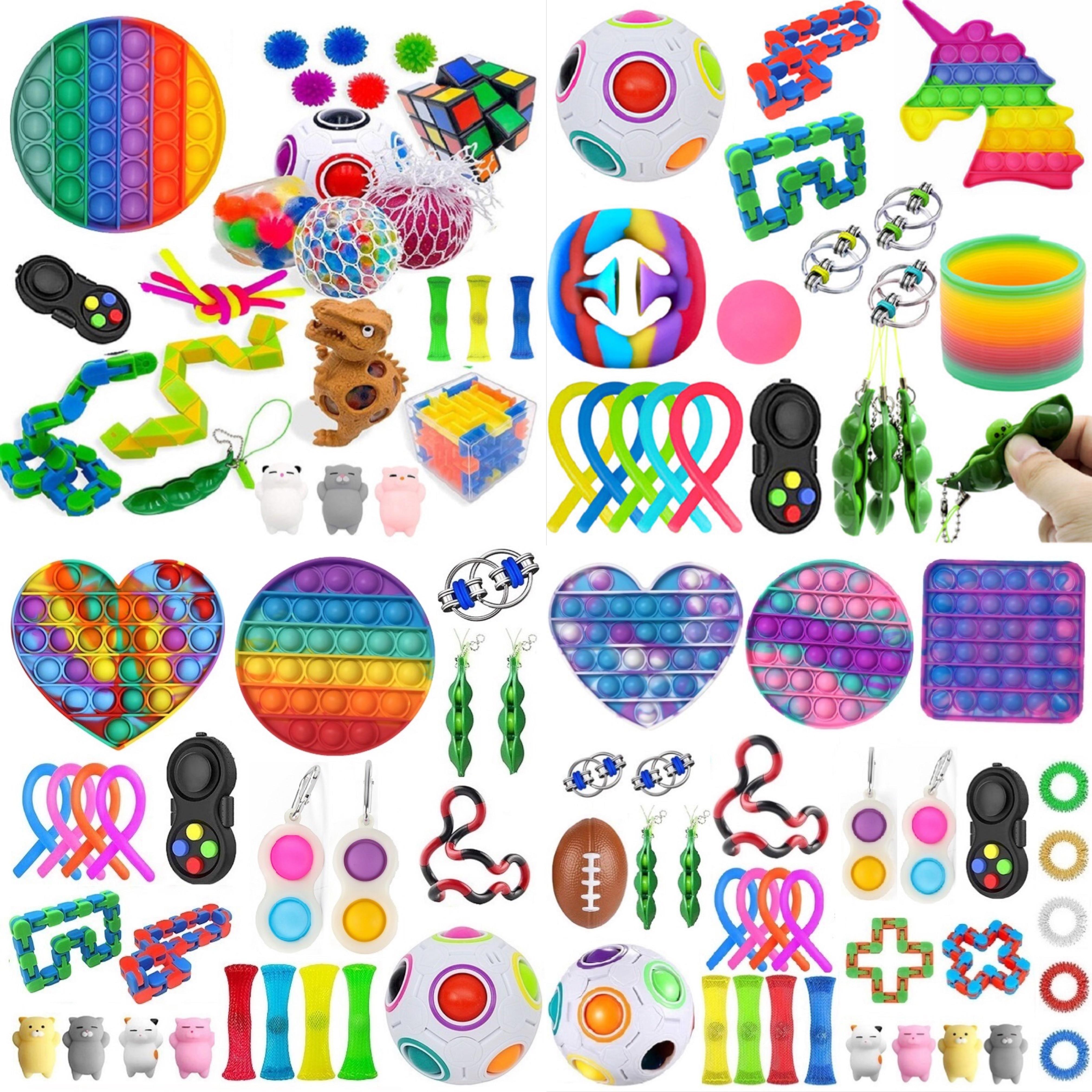 Топ Непоседа упаковка игрушек, игрушка для снятия стресса в набор игрушек мрамор рельеф подарок для взрослых девочек детей сенсорной антис...