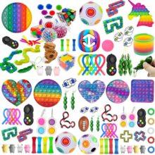 Pack de jouets Anti-Stress, ensemble de jouets Anti-Stress, cadeau de soulagement du marbre pour adultes filles enfants sensoriels Anti-Stress, boîte de jouets Figet