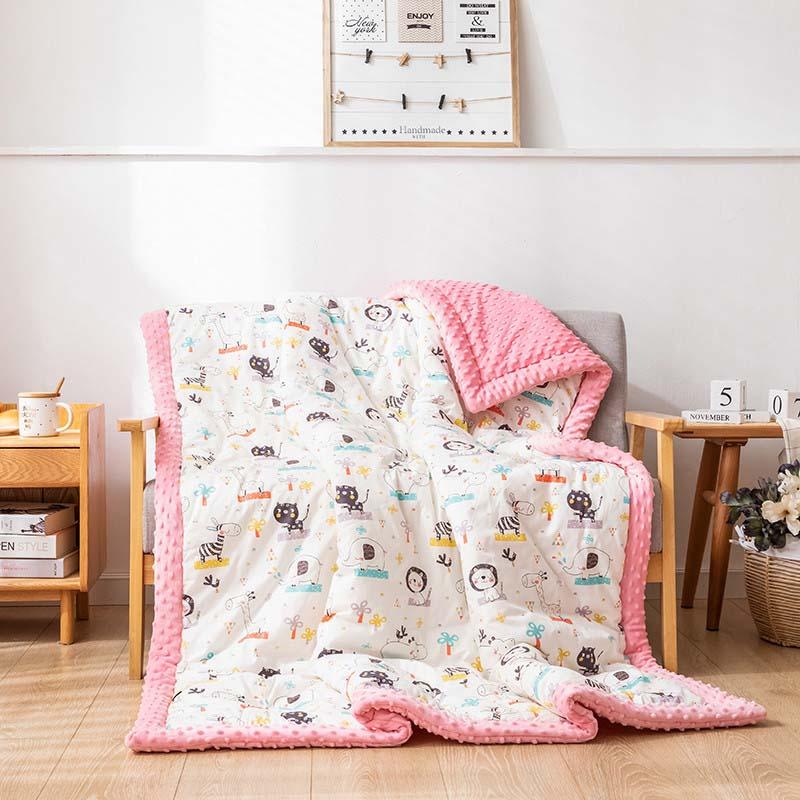 120*150cm Kids Warm Skin Blankets Children's Peas Blanket Baby Quilt Newborn Cover Super Soft Cartoon Blanket
