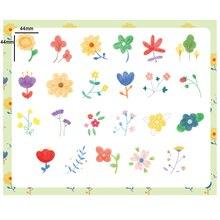 46pcs/box Flower Kawaii Diary Handmade Adhesive Paper Flake Japan Sticker Scrapbooking Stationery