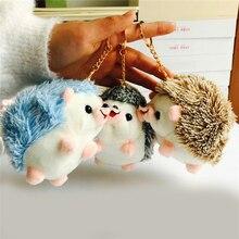 12 см Плюшевые игрушки Ежик брелок кольцо подвеска плюшевая игрушка животное набивная аниме машина мех Подарки для женщин девочка игрушки к...