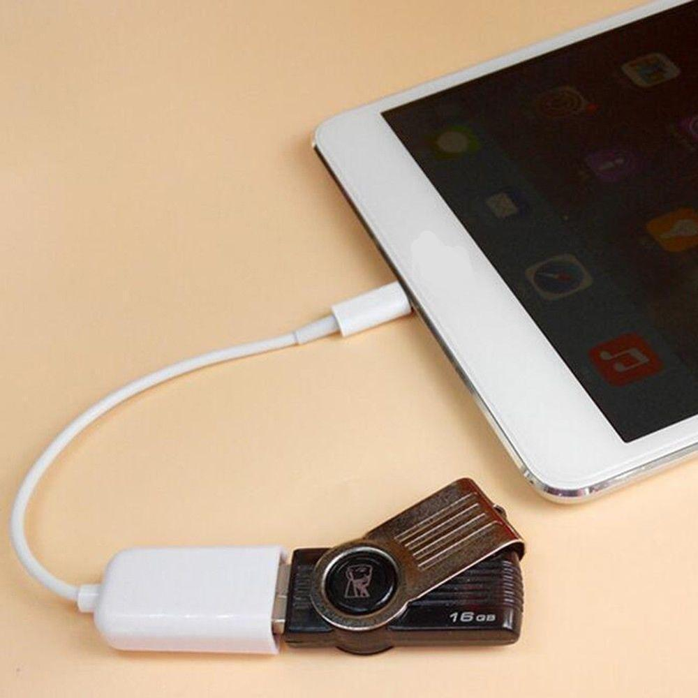 OTG USB to Camera <font><b>Adapter</b></font> for Lightning USB Cable Headphones MIDI Electric Piano Converter Keyboard for <font><b>iPhone</b></font> <font><b>7</b></font> 8 iOS 13 Adapte image