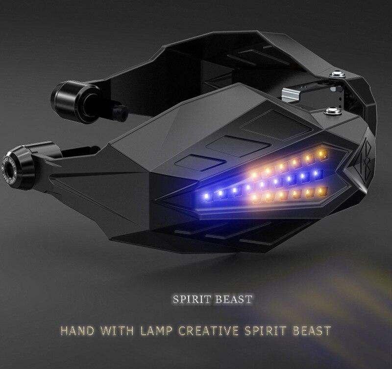 Garde-mains de protection contre le vent de moto lumière LED pour clé aprilia bmw k100 yamaha dt honda cbf600 honda sh suzuki ltz kawasaki kx125