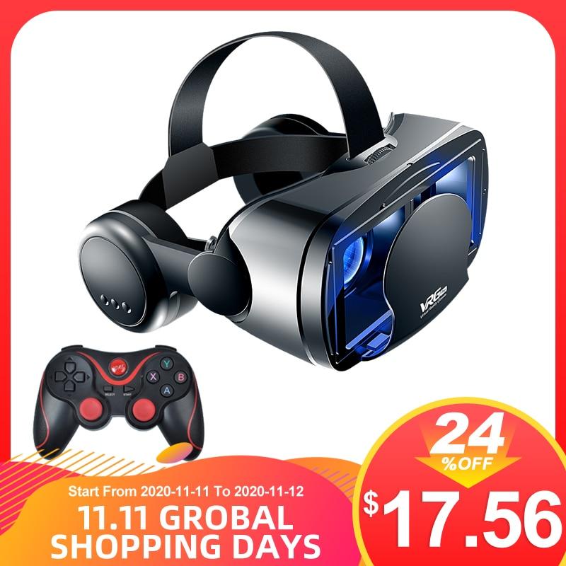 Vrg pro vr óculos 3d fone de ouvido realidade virtual áudio vídeo all-in-one 5 7 7 polegada celular dedicado óculos destacáveis