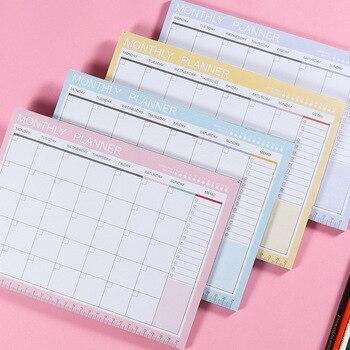 2019 2020 Agenda Notebook A4 Tagebuch Journal Wöchentlich Monatlich Planer Papelaria Schule Liefert Stationäre Veranstalter Zeitplan