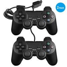 Contrôleur Dualshock 2 pour moteurs PS2 à Double Vibration intégrés consoles de jeux vidéo avec contrôle sensible pour tous les modèles PS2