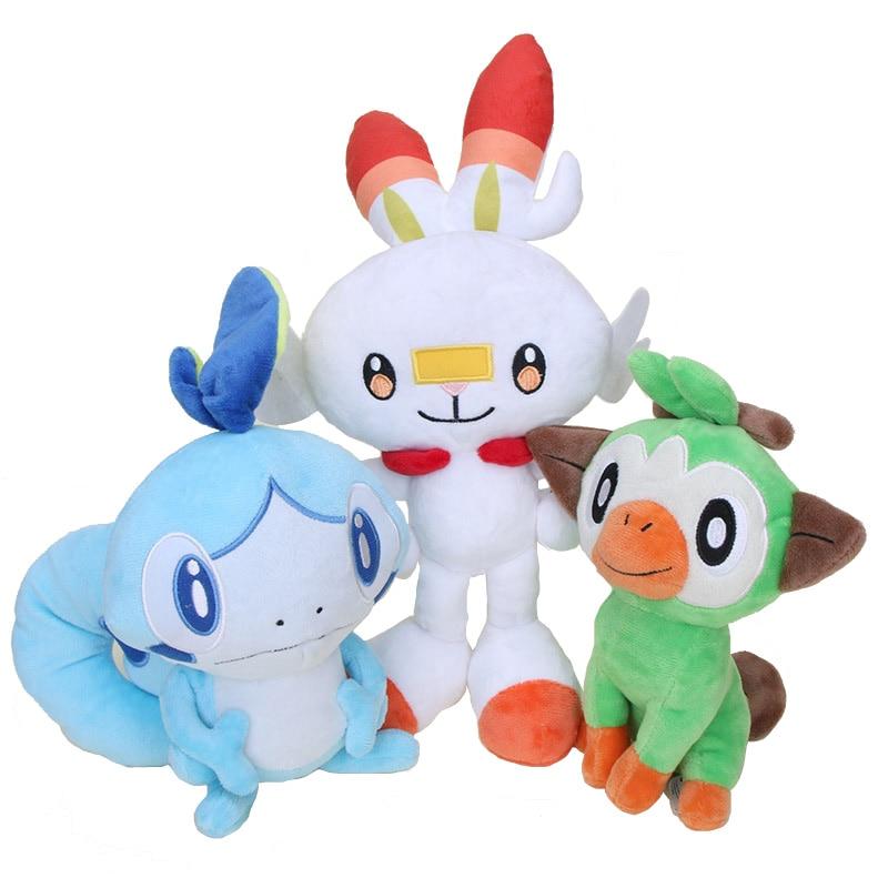 22-35cm Pokemon Sobble Scorbunny Grookey Sirfetch'd Plush Dolls Toy Sword Shield Stuffed Plush Toys Christmas Gift for Kids 1