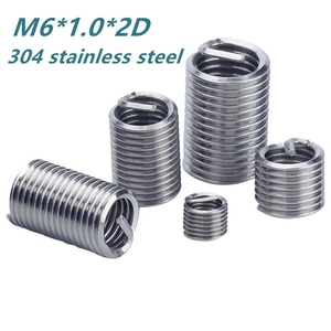 Hot M6 10PCs Wire Threaded Insert Kit Stainless Steel Thread Repair Insert Fastener Connection Tools Household Tool Kits