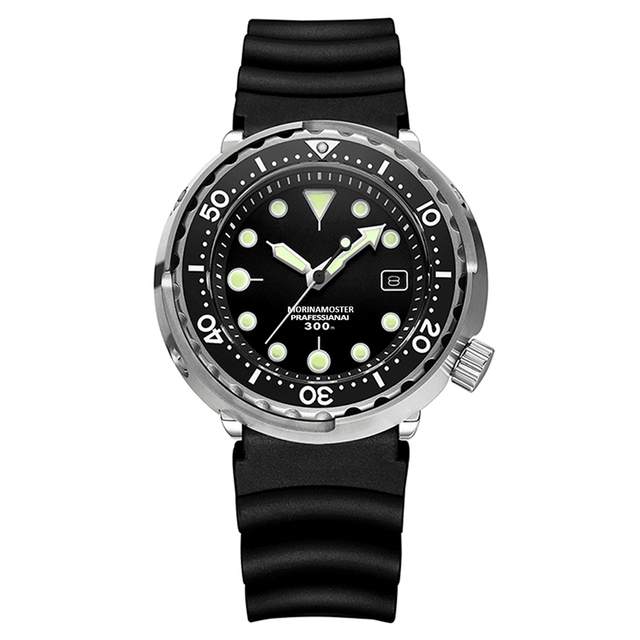 Addies Top Brand Luxury Mechanical Men Watches 300m Diver Ceramic Bezel Sapphire Glass Stainless Steel Luminous Automatic Watch
