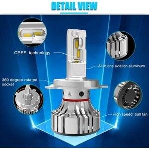 Image 3 - 72W 12000LM F2 H4 H7 H8 H11 h13 Car LED Headlights Bulb Fog Light F2 H7 H11 H8 9005 9006 H1 880 Car LED Headlamp Kit